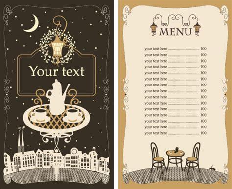 menu design eps メニュー作りの参考に カフェ レストラン無料メニューテンプレート5セット 商用可 eps free style
