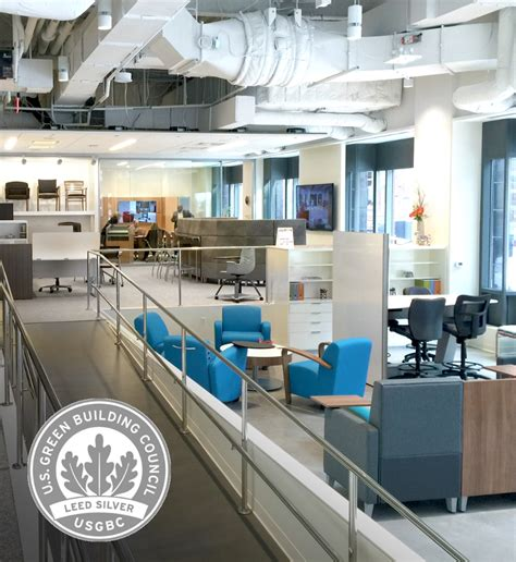 National Office Liquidators by National Office Furniture Boston Showroom Receives Leed Ci