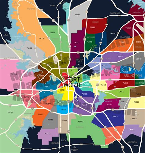 fort worth texas zip code map ft worth zipcode map fort worth zip code map ft worth zipcode