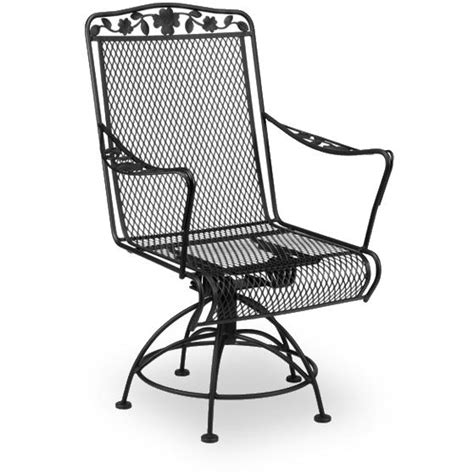 meadowcraft dogwood wrought iron patio swivel rocker
