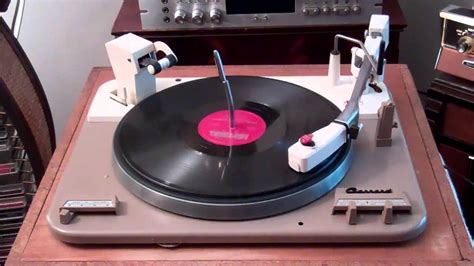 Garrard Type A Turntable 1961 garrard type a turntable heathkit aa 100 my blue heaven fats domino