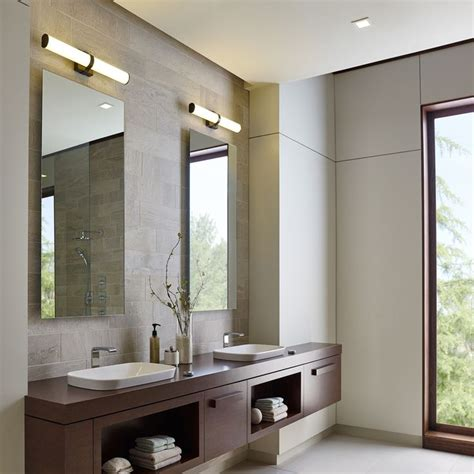 Bright Bathroom Lights Refined Yet Stylish The Lynk Bath Vanity Light Simultaneously Complements A Wide Range Of