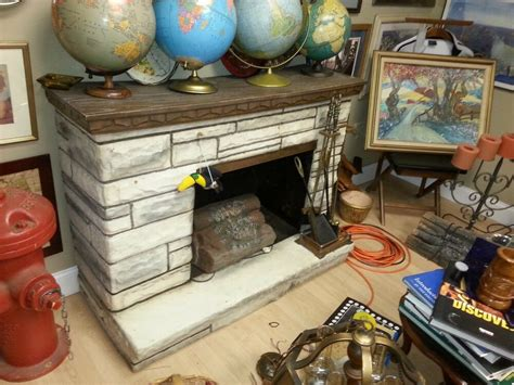 vintage electric fireplace 50 s fiberglass with heater and
