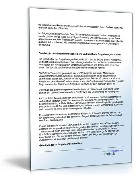 empfehlungsschreiben referenzschreiben unterschied empfehlung mitarbeiter vorlage zum