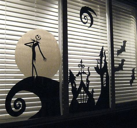 jack skellington home decor 26 creative halloween window decor ideas digsdigs