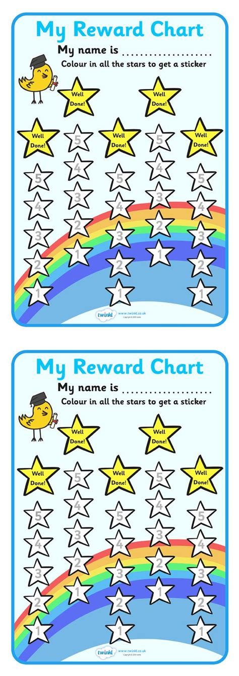 printable bookmarks twinkl twinkl resources gt gt reward sticker chart stars