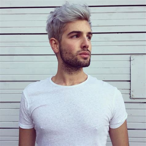 steely gray blue hair color for men 2808 best images about men s hairstyles on pinterest