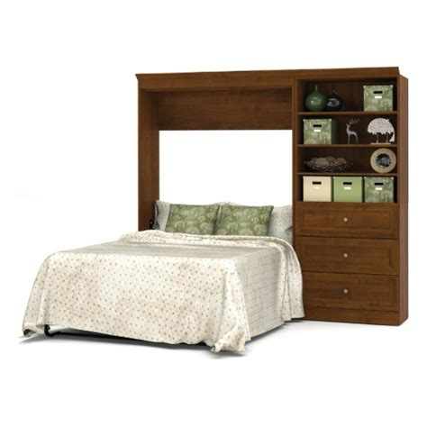 Shelf Attached To Bed bestar versatile murphy wall bed with 3 drawer and 3 shelf