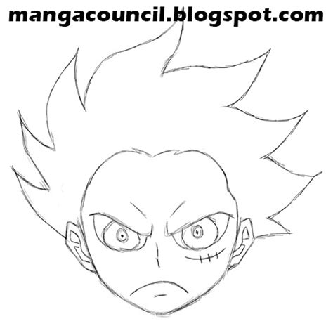 menggambar luffy gear   piece manga council