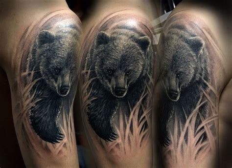 black bear tattoo best 25 black ideas on