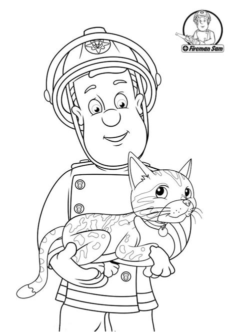 Fireman Sam Coloring Pages To Download And Print For Free Fireman Sam Pictures To Print