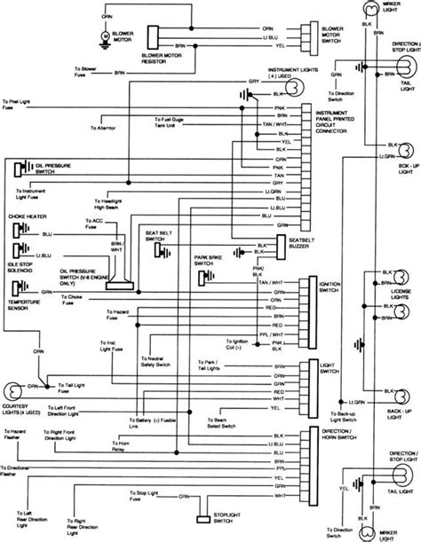 1986 Chevy Truck Fuse Box Connectors Wiring Diagram