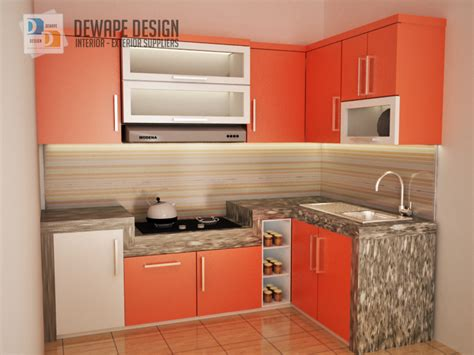 Lemari Orange kitchen set warna orange putih malang kitchen set rumah