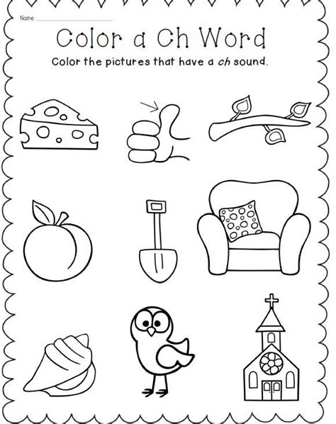 Ch Worksheets by Digraph Bundle Ch Sh Th Phonics Word Work Activities
