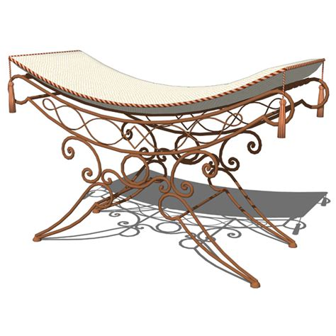 wrought iron ottoman wrought iron ottoman 3d model formfonts 3d models textures