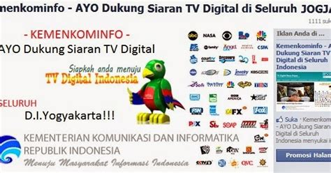 Tv Digital Jogja ayo dukung siaran tv digital di jogja tv digital masa depan