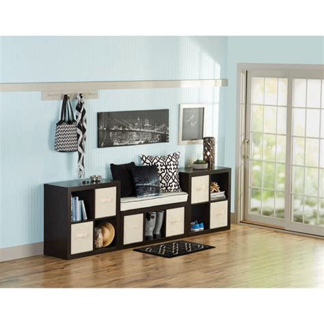Better Homes And Gardens Office Furniture Better Homes And Gardens 11 Cube Organizer Wall Unit Colors Walmart