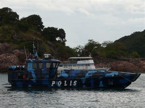 malay boat malaysian police boat at redang pasir panjang
