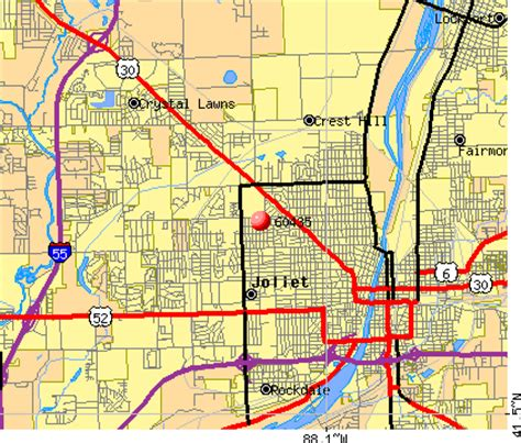 map of joliet il 60435 zip code joliet illinois profile homes