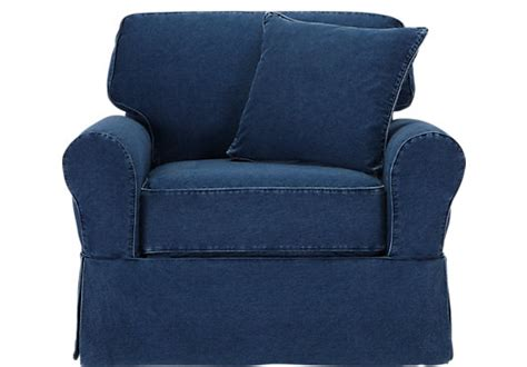 replacement slipcovers for cindy crawford sofa picture of cindy crawford home beachside denim chair from