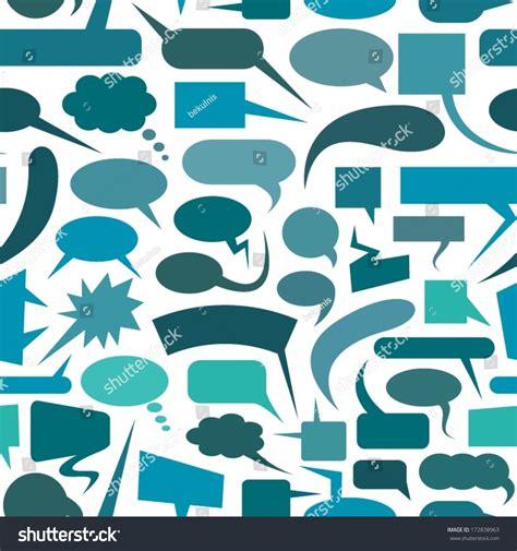 speech pattern en français speech bubbles seamless pattern stock vector 172838963