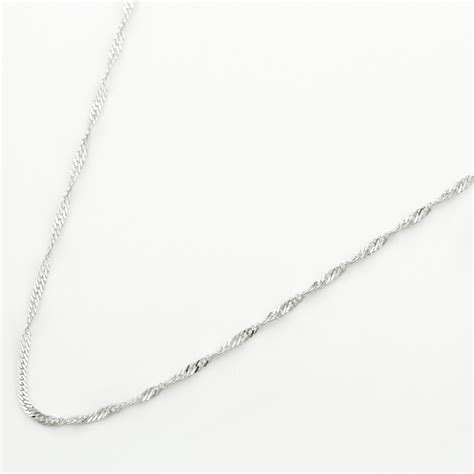 sterling silver twist necklace shop from silvery