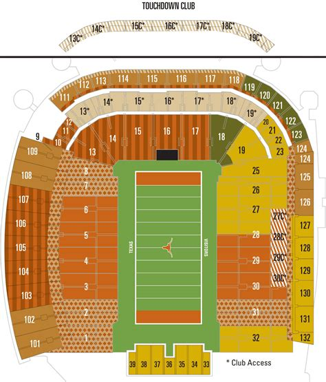 university of texas stadium map dkr seating chart texas football season tickets ayucar