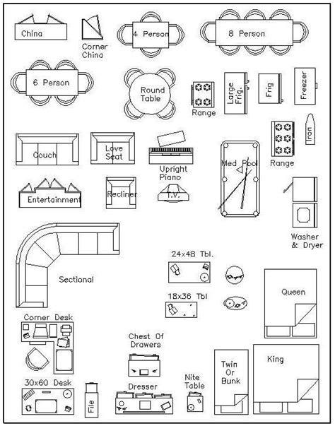 Furniture Templates For Floor Plans Autocad | free printable furniture templates furniture template