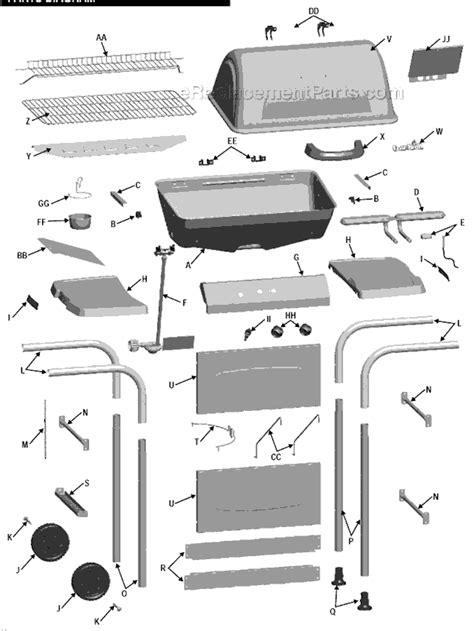 char broil parts diagram char broil 463741209 parts list and diagram
