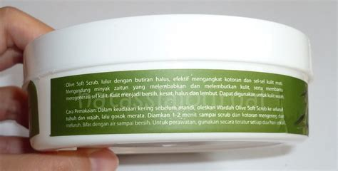 Lulur Scrub Wardah natassia journal wardah olive soft scrub