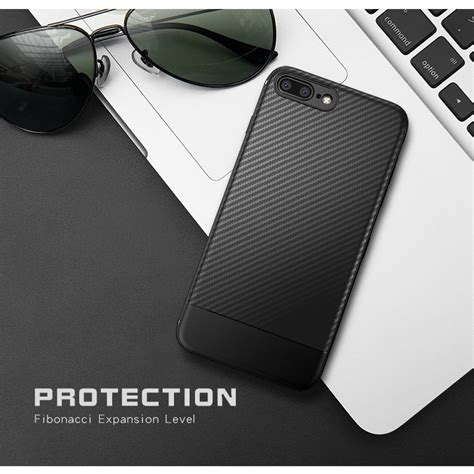 Garansi Softcase Ipaky Carbon Fiber Iphone 7 4 7inch Rubber solid protective tpu carbon fiber softcase for iphone