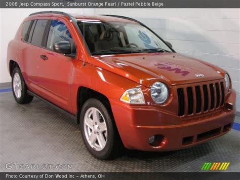 orange jeep compass sunburst orange pearl 2008 jeep compass sport pastel