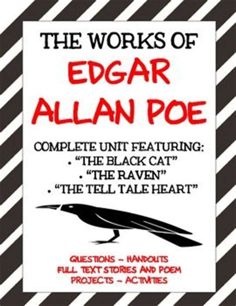 edgar allan poe biography lesson plan heart student centered resources and cats on pinterest