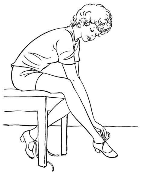 pin pointe shoes colouring pages on pinterest