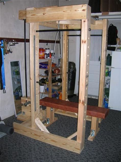 Wooden Power Rack Failure by Power Rack Made Out Of Wood And Pipe Wood