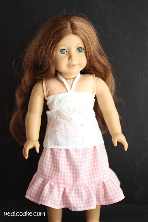 American Girl Bandeau Top An American Girl Doll Clothes Pattern American Doll Clothes Templates