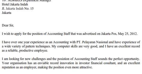 Struktur Application Letter Dalam Bahasa Inggris Contoh Surat Lamaran Kerja Bahasa Inggris Application Letter
