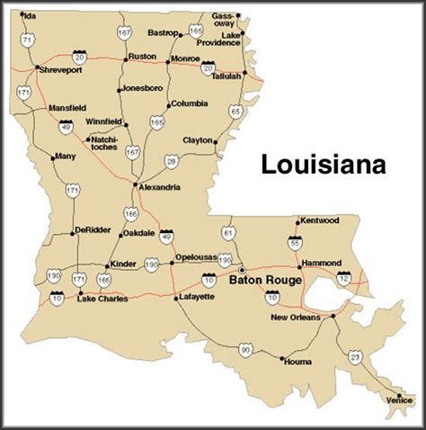 louisiana map baton louisiana baton new orleans places i