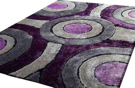 rug shaggy living room area rug purple and grey