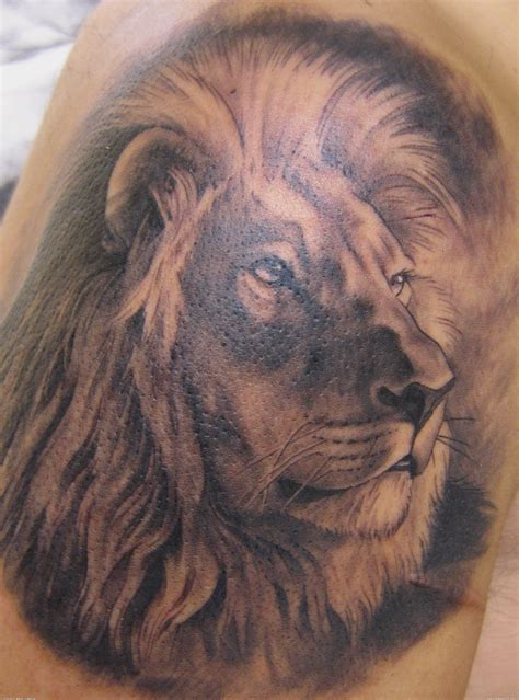 realistic lion tattoo www imgkid com the image kid has it