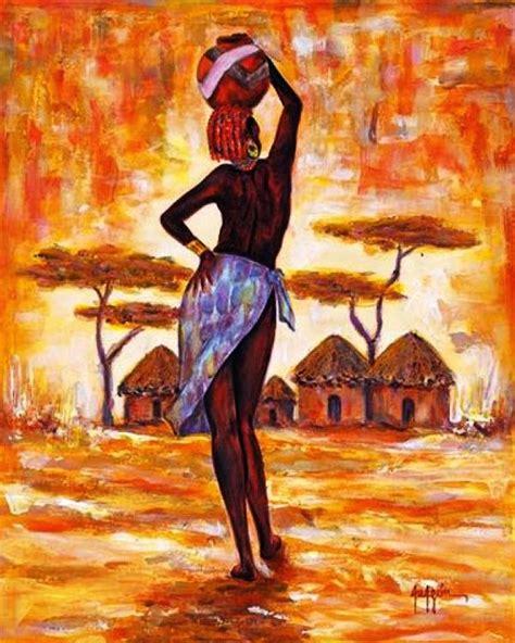 imagenes cuadros negras africanas cuadros modernos pinturas y dibujos paisaje con negras