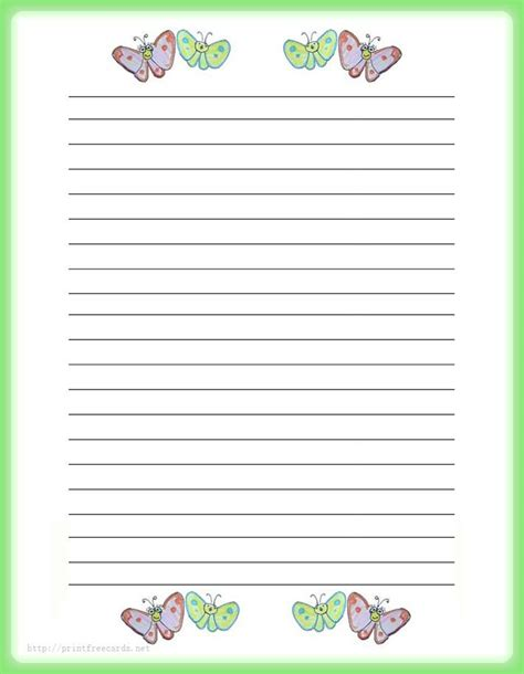 free printable army stationery paper pen pal stationary for vi petal daisy brownie girl