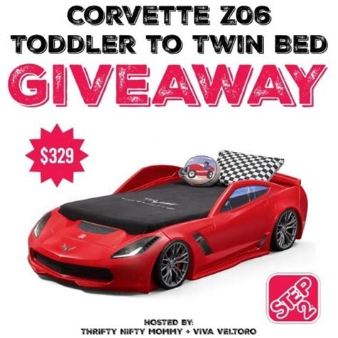 corvette twin bed step2 corvette z06 toddler to twin bed giveaway