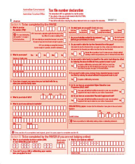 printable tax form sle printable tax form 9 exles in word pdf