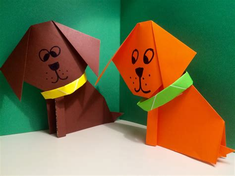 origami puppy origami easy and origami origami and craft cards