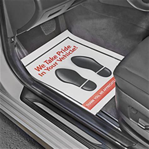 Automotive Paper Floor Mats by Paper Floor Mats Vehicle Paper Mats In Stock Uline