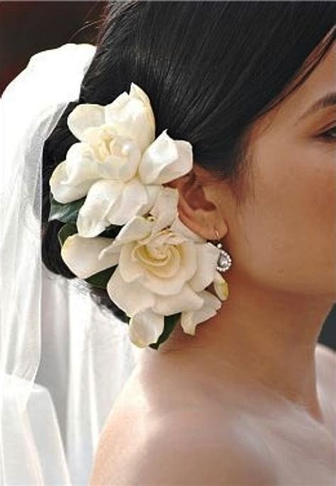 Gardenia For Hair Bridal Hair Low Bun With Side Gardenias Quot Bridal Hair