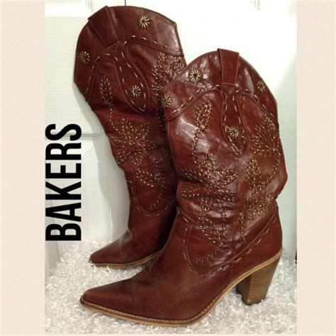 84 bakers shoes bakers western heeled boots size 7