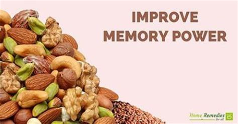 home remedies to improve memory power and concentration