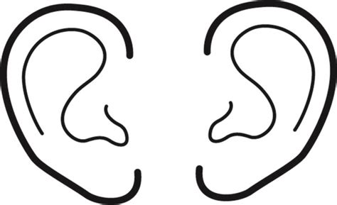 ear cut free cut ears coloring pages